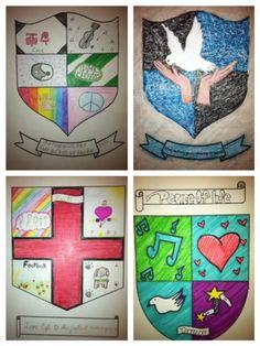 Cask of Amontillado - Edgar Allan Poe -  Creative/Artistic Project - Student Examples - Create a Coat of Arms