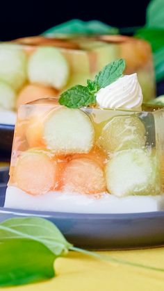 Melon and White Wine Terrine ~ Recipe Kinds Of Desserts, Fun Desserts, Delicious Desserts, Dessert Recipes, Yummy Food, Sweet Champagne Brands, Dairy Free Deserts, Wine Tasting Party, Jello Recipes