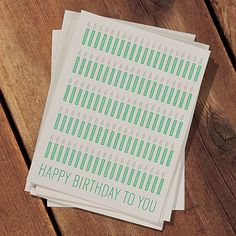 This Many Card is the Birthday Card For Recipients of Any Age