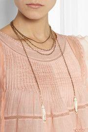 Isabel MarantGold-tone beaded tassel necklace