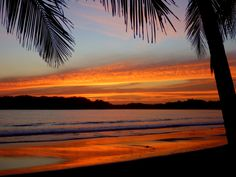 Sunset over Playa Carrillo - some say the most beautiful beach in Costa Rica and it's hard to argue
