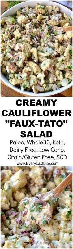 "Creamy Cauliflower ""Faux""-Tato Salad | Every Last Bite"
