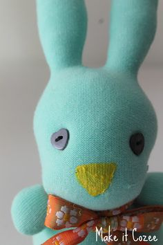 Make your own Easter sock bunny.  Link to the tutorial is in the post.