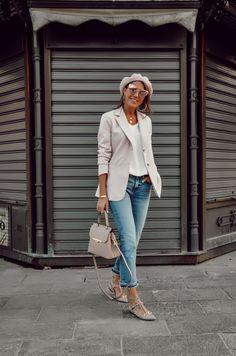 Daily outfit, VALENTINO ROCKSTUD, PINK PALE BLAZER, CRISTINA SURDU