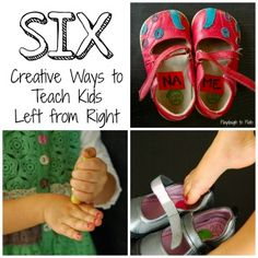 Six Creative Ways to Teach Kids Left from Right. {Playdough to Plato}