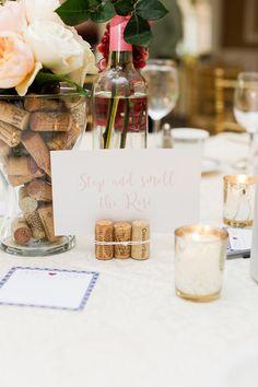 Wine themed centerpiece / Kaitlin Agulto Weddings / Pamela Jusino Studio