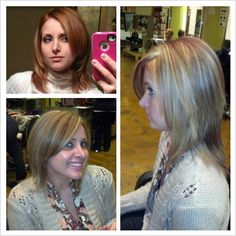 Changed from red to dirty blonde with highlights!
