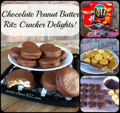 Chocolate Peanut Butter Ritz Cracker Delights!