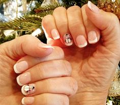 #christmasnails #snowmannails #odentonnailsalon #nailsbybliss Gel French Manicure by Chan