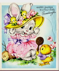 Cute Vintage Easter card