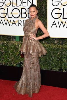 Chrissy Teigen in Marchesa at 2017 Golden Globe Awards in Beverly Hills Check more at http://fashnberry.com/2017/01/chrissy-teigen-in-marchesa-at-2017-golden-globe-awards-in-beverly-hills/
