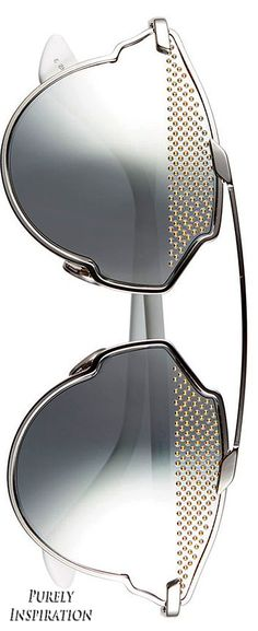 Dior 'So Real' studded mirrored sunglasses