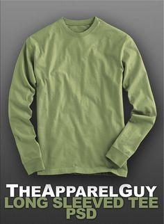 long sleeve t-shirt mockup, long sleeve t-shirt template@tshirtzoon