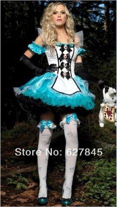 neve branco lolita pricess trajes para senhoras mulheres 2014 cosplay halloween vestido de carnaval com acessórios US $25.00