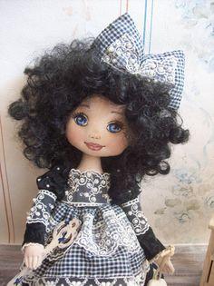 Elenor Textile Doll Handmade Doll Art Doll Fabric por TrixiCreation