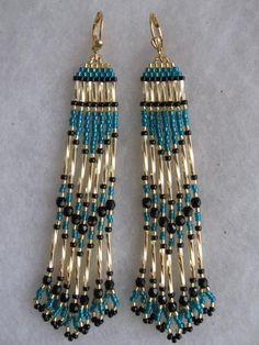 Semilla de grano americano nativo pendientes  oro profundo