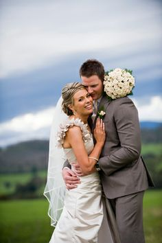 Wedding couple having fun. Country weddings. By Precise Moment Photography