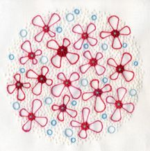 Wool & Hoop Crewel Embroidery with lots of stippling to create texture