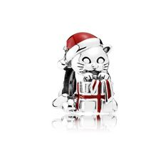 Christmas Kitten, Berry Red Enamel - 792007EN39