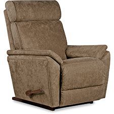 Beckett has a unique look you won't find in many recliners. Its clean, modern styling is graced with a high headrest reminiscent of automotive seat designs. It also boasts sleek arm pads, trim accents and the ability to rock. It's easy to see why Beckett is such a standout.
