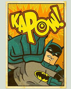 Love this kapow - looking for wall art inspiration for the boys room