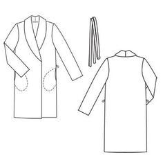 Пальто - выкройка № 108 из журнала 10/2011 Burda – выкройки пальто на Burdastyle.ru
