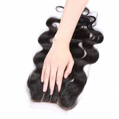 6A 4x4 Inch Fashion Body Wave Natural Black Brazilian Virgin Hair Top Closure with Bleached Knots For Women #CLICK! #clothing, #shoes, #jewelry, #women, #men, #hats