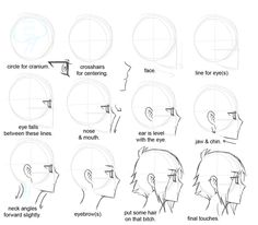 helps me draw a profile anime/manga face