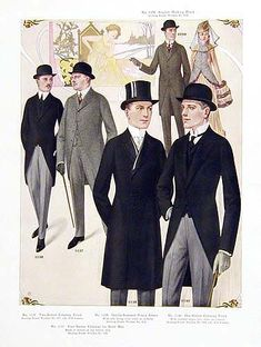 Lysander  and Demetrius and Master of the Revel:  Original Antique 1914 Mens Fashion Poster/Prints For Sale