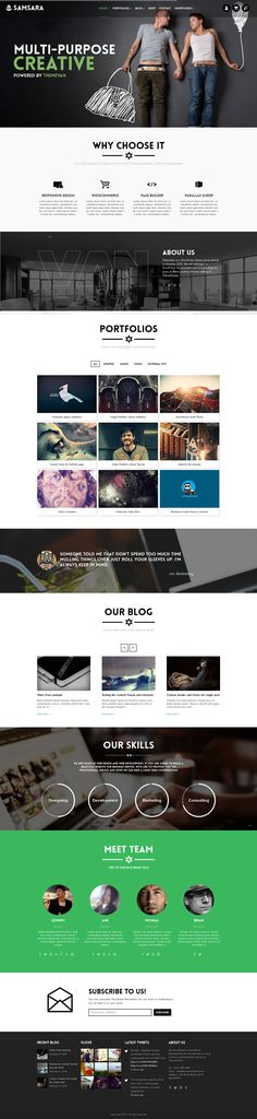 Buy Samsara - Creative Multi-pages and One Page WordPress Theme by ThemeVan on ThemeForest. Samsara is a Multiple Purpose Responsive WordPress Theme with fully customizable and unlimit. Creative Web Design, Web Ui Design, Site Design, Tool Design, Graphic Design, Web Layout, Layout Design, Ui Web, Web 2