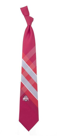 Ohio State University Buckeyes Necktie   Polyester Tie