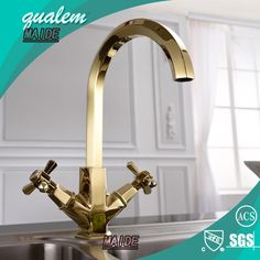Gold kitchen faucet. #LGLimitlessDesign #Contest