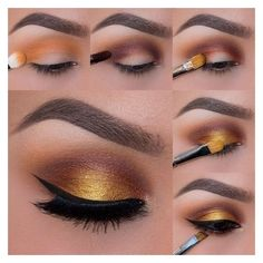 Foiled Sunset Photo Tutorial ❤ liked on Polyvore featuring beauty products and makeup
