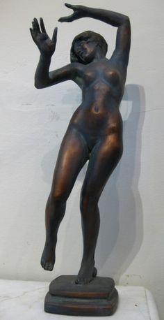 "Henri Hébert, ""Charleston,"" Plâtre, 20"" Henri, Claude, Sculpture, American, Collection, Canadian Art, American Art, Sculpting, Statue"