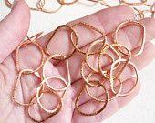 NEWEST Chain Rose Gold 5 Feet Stardust Hand Wrought Copper Bulk Chain Fancy Links