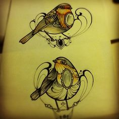 Robins #ink #tattoo #robins #birds #missjuliet