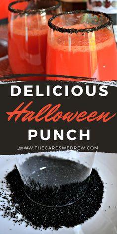 Halloween Punch Alcohol, Halloween Party Drinks, Halloween Fruit, Easy Halloween, Halloween Finger Foods, Halloween Birthday, Halloween Treats, 50th Birthday, Alcoholic Fruit Punch