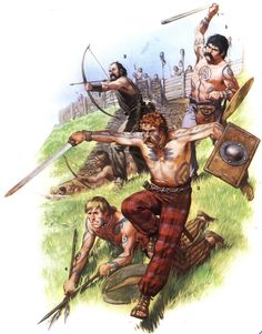 Celtic Gauls; hill fort defence
