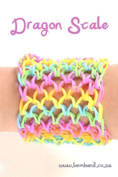 How to make a Dragon Scale Rainbow Loom band bracelet