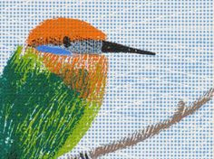 Bee Eater in Malawi Original screen print by LilSonnySky on Etsy