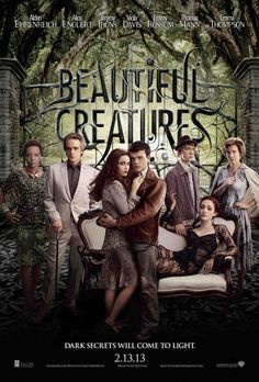 Beautiful creatures - A supernatural love story set in the South which tells the tale of two star-crossed lovers: Ethan, a young man longing to escape his small town, and Lena, a mysterious new girl. Together, they uncover dark secrets about their respective families, their history and their town. The film is based on the first novel in the best-selling series by Kami Garcia and Margaret Stohl.