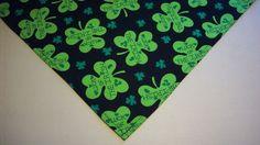 Dog Bandana/Scarf Tie On/Slide On Green Shamrocks Custom Made by Linda  XS S M L #CustommadebyLinda