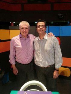 Mago Tony Frackson con el Campeón mundial de Cartomagia Miguel Gómez.