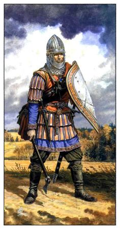 Frank, member of a Germanic-speaking people who invaded the western Roman Empire in the century. Medieval Knight, Medieval Armor, Medieval Fantasy, Military Art, Military History, Rose Croix, Empire Romain, Early Middle Ages, Knight Armor