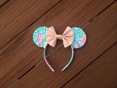 Lilly Pulitzer Minnie Mouse Ears Headband Disney World Park by annieannieannieannie on Etsy