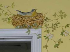 Birds and Greens Decorating Ideas | Bird Image for Wall Decoration, Modern Wallpaper, Stickers and ...