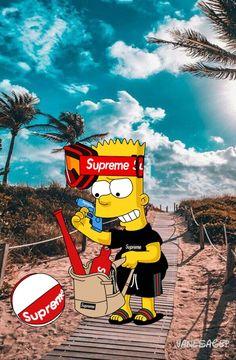Bart Simpson New Horizons Bape Wallpaper Iphone, Hypebeast Iphone Wallpaper, Supreme Iphone Wallpaper, Simpson Wallpaper Iphone, Funny Phone Wallpaper, Cartoon Wallpaper, Simpsons Drawings, Simpsons Cartoon, Cartoon Art