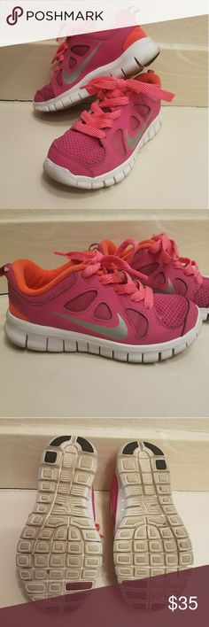 Toddler Nike shoes Toddler Nike shoes Size 11. Color Pink,Orange and white used in good condition Nike ACG Shoes Sneakers