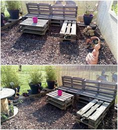 This is an impressive designed structure of pallet garden couch that is exhibiting out a very beautiful design and style. It can perfectly get fitted into any house no matter in whatsoever type of decoration it would cherish. It has the attachment of table too.