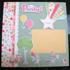 october afternoon layouts | Two page scrapbook layout featuring the October Afternoon Cakewalk ...